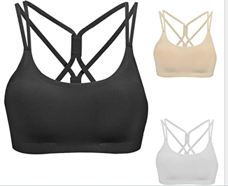 135a777aba0 3 Pack Ultra-Soft Modal Women s Padded Sports Bra High Support Impact Bra  Workout Yoga