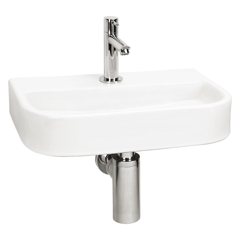 Differnz Oval-Small 38.015.00 - Lavandino in ceramica, Bianco (Blanc)