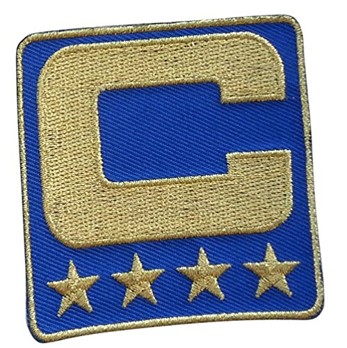 - Royal Blue Captain C Patch (All Gold) Iron On for Jersey Football, Baseball. Soccer, Hockey, Lacrosse, Basketball