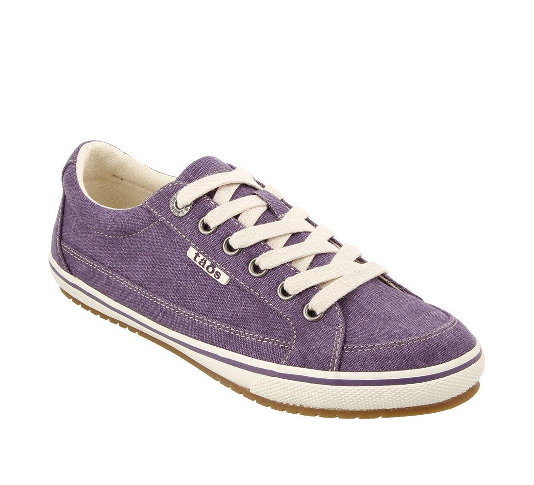 Taos Footwear Women's Moc Star Sneaker B074PBF7Z5 7.5 M US|Purple Washed Canvas