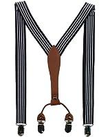 HABI unisex mehrfarbig elastisch gestreift Hosenträger Y-Form Länge für Kinder und Jungen mit den starken Clips Playshoes in verschiedenen Designs …