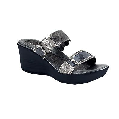 Naot Treasure Impulse Women Sandals, Metal Leather/Grey Patent,Size - 37