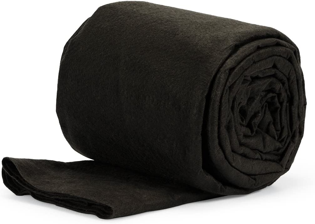 Aquascape Inc 85010 Pond and Water Garden Non-Woven Geotextile Underlayment, 150 sq. ft, Black