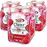 Premier Protein Clear Protein Drink, Raspberry, 16.9 fl oz Bottle, (12 Count)