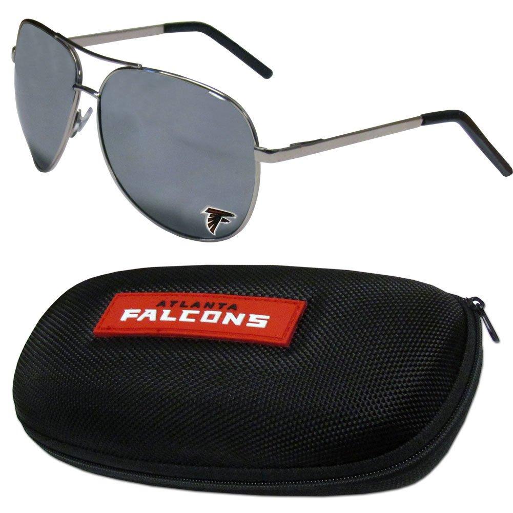 NFL Atlanta Falcons Aviator Sunglasses /& Zippered Carrying Case