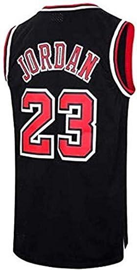 A-lee Men s Jersey toros Vintage campeón de la NBA, Michael Jordan Jersey Chicago Bulls 23 El Jugador # Malla Jersey de Baloncesto (Black-2, S): Amazon.es: Ropa y accesorios