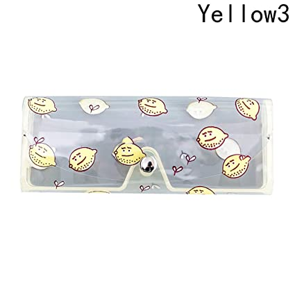 d64b5c92532 Image Unavailable. Image not available for. Color  Cartoon Plastic  Transparent Clear Crystal Eyeglass Glasses Spectacle Case Box Holder YW3
