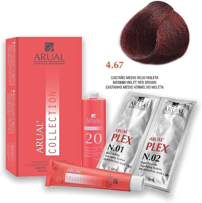 Arual Tinte Nº 4.67 Castaño Medio Rojo Violeta 60ml