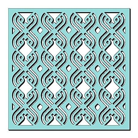 Synthetisches Material Durchsichtig Sweet Dixie Blumen Ausbruch Schablone 18.7 x 16 x 0.1 cm