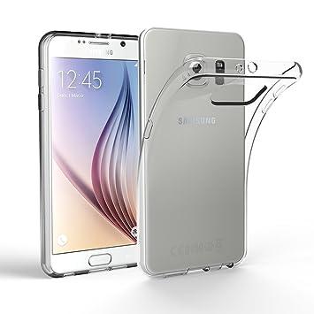EasyAcc Funda Galaxy S6 Ultra Fina TPU Transparente Carcasa Alta Resistencia y Flexibilidad