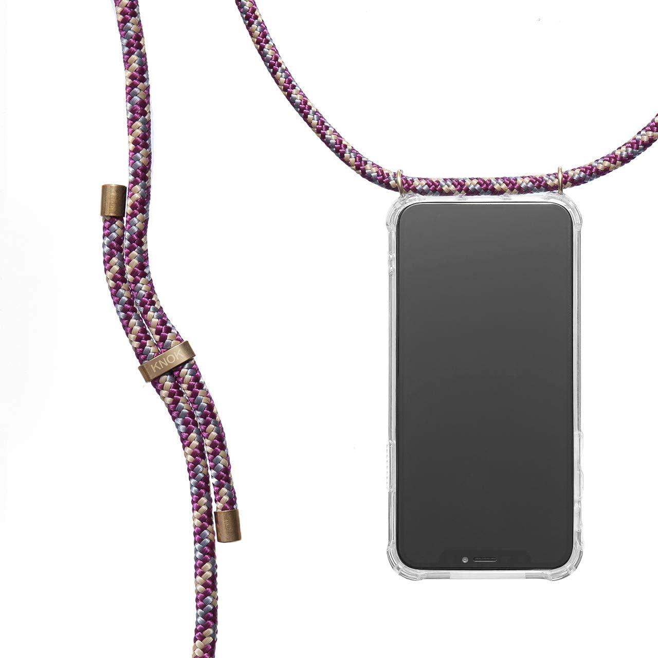 KNOK Funda Colgante movil con Cuerda para Colgar iPhone 11 Pro - Carcasa de móvil iPhone Samsung Huawei con Correa Colgante - con Cordon para Llevar en el Cuello
