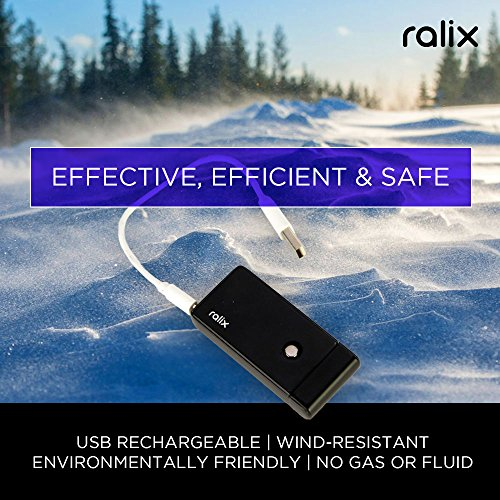 Ralix Electronic Lighter | Single Arc Flameless Plasma Lighter | Rechargeable | Wind Resistant | Best for Lighting Cigarettes, Cigars, Candles & More | Includes USB Charger & Luxury Gift Box