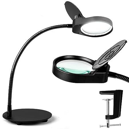 Amazon.com: TOMSOO - Lámpara de escritorio con lupa ...