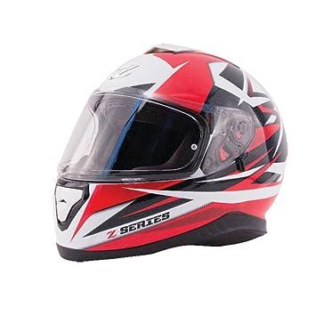 ZOX z-ff10 SVS Dawn para hombre calle casco de moto, color rojo