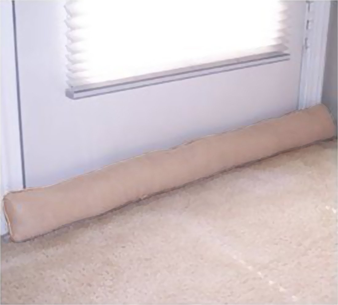 Door and Window Draft Stopper, Draught Excluder - Taupe