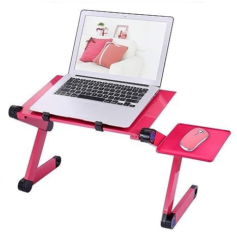 TZZ Escritorio portátil portátil Plegable PC Escritorio Cama Sofá Soporte portátil Plegable Ordenador portátil Mesa con