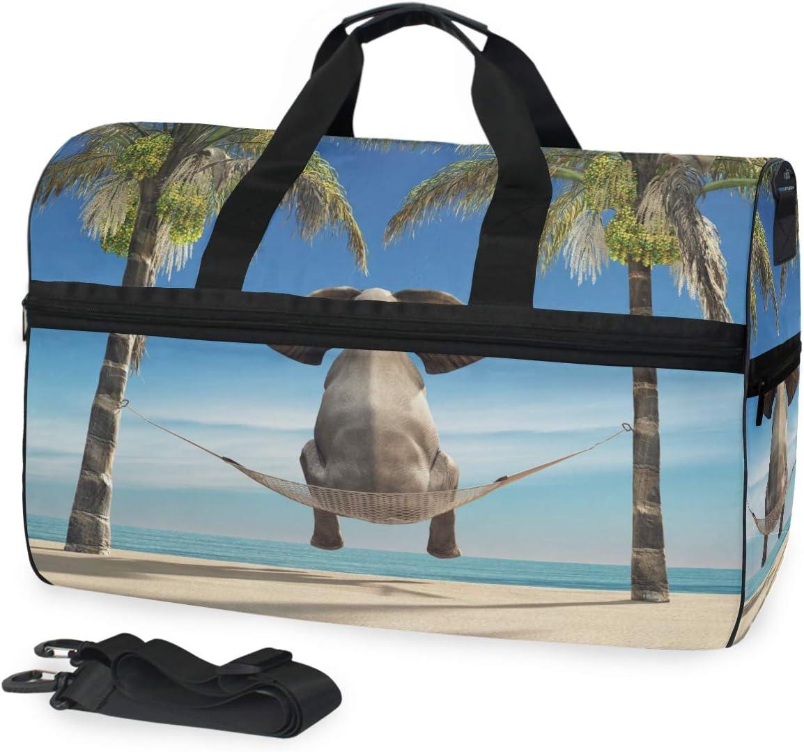 Gym Vacation Travel Duffel Bag Shark Wild Animals Waterproof Lightweight Luggage bag for Sports