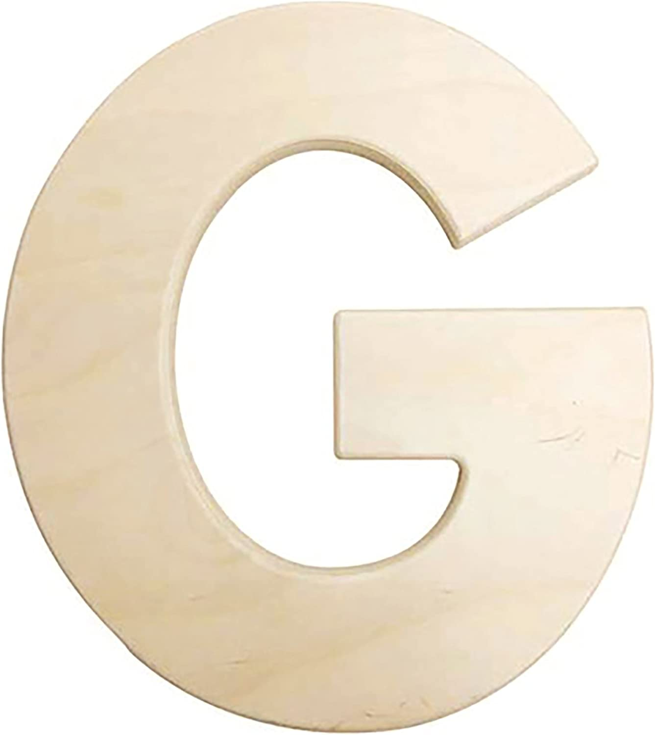Darice U0993-G Bold Solid Wood Letter, Capital G, 12 in