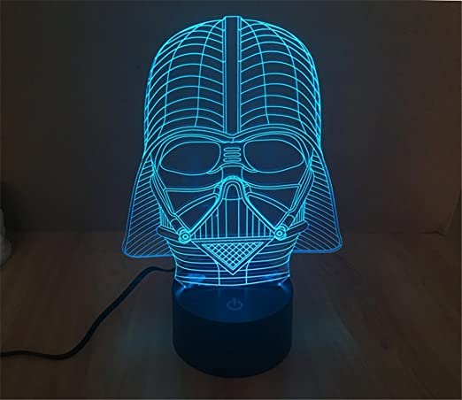 19 Star Wars Darth Vader 3d Optical Illusion Night Lamp 7 Color