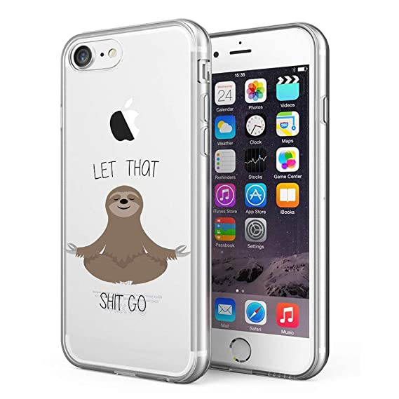 Litech™ Case for Apple iPhone 7 / iPhone 8 [Flexfit] Premium Clear Scratch-Resistant Cute Creative Artistic Design [Wireless Charging Compatible] ...