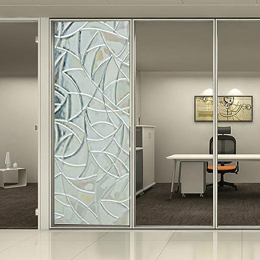 Película para ventana de Vidriera con vinilo papel Cubrir de privacidad esmerilado estática decorativa, 0.92mx1m: Amazon.es: Hogar