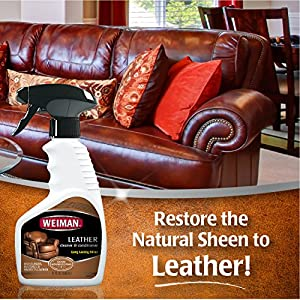 Weiman Leather Cleaner and Conditioner 2 Pack - UV Protection Help Prevent Cracking or Fading of Leather Couches, Car Seats - 12 Fluid Ounces