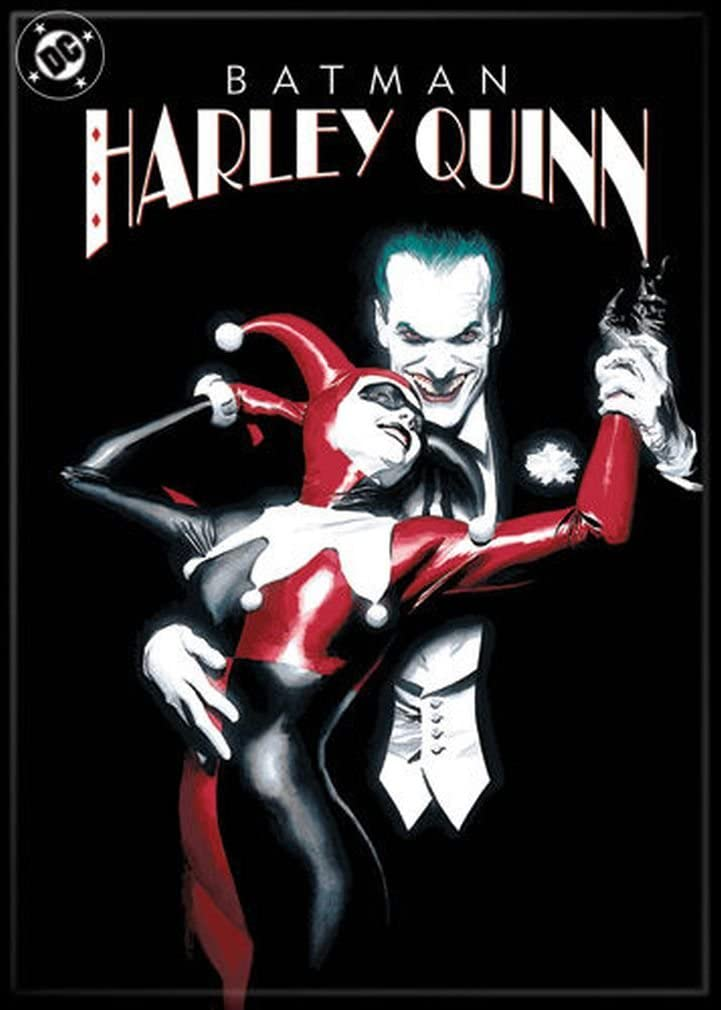 "Ata-Boy DC Comics Batman - Harley Quinn and The Joker 2.5"" x 3.5"" Magnet for Refrigerators and Lockers"
