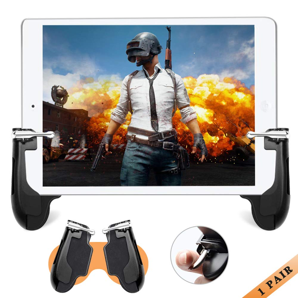 Gamepad for 4.5-12.9 inch Tablet /& Smartphone Upgrade Version Sensitive Shoot and Aim Fire Triggers Button for PUBG//Knives Out//Rules of Survival Mobile Game Controller for iPad,