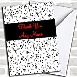Music Thank You Card With Envelope, Can Be Fully Personalised, Dispatched Fast & Free