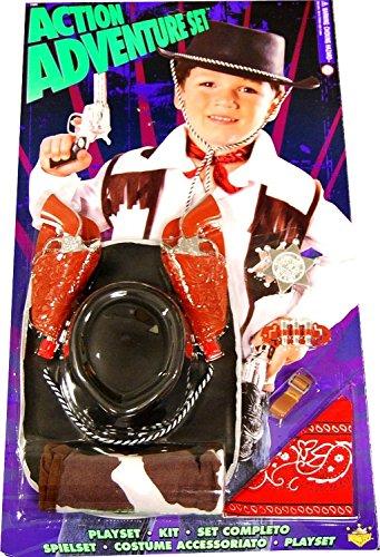 Cowboy Action Costumes (Action Adventure Cowboy Blister Child Costume Set One Size)