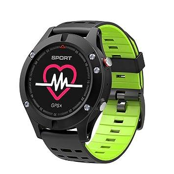 WANGXN Relojes Deportivos Digitales para Hombres GPS Que Funciona con Reloj Inteligente con Monitor De Ritmo