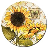 CounterArt Sunflowers in Bloom Lazy Susan Glass Serving Plate