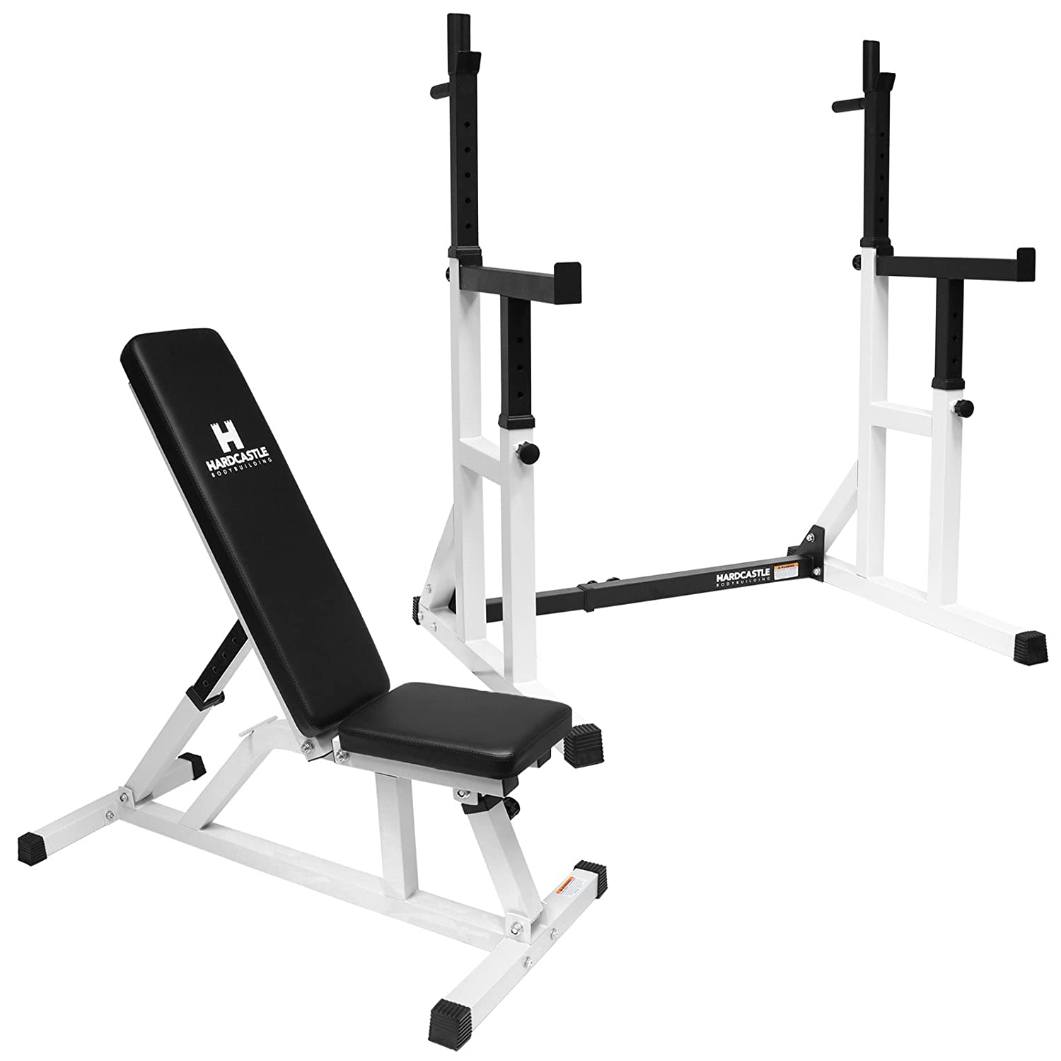 bench with itm power lifting set gym weight cage workout tower rack new olympic