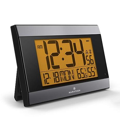 Maratón Digital Reloj de Pared con Temperatura y Humedad