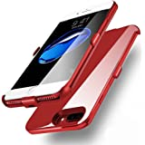iPhone 7 Plus Battery Case,Tiitarn 4000mAh Ultra Slim Portable iPhone Charger Extended Backup Power Bank Battery Charger Case Cover For Apple iPhone 7 Plus/6s Plus/6 Plus(5.5 inch)-Red