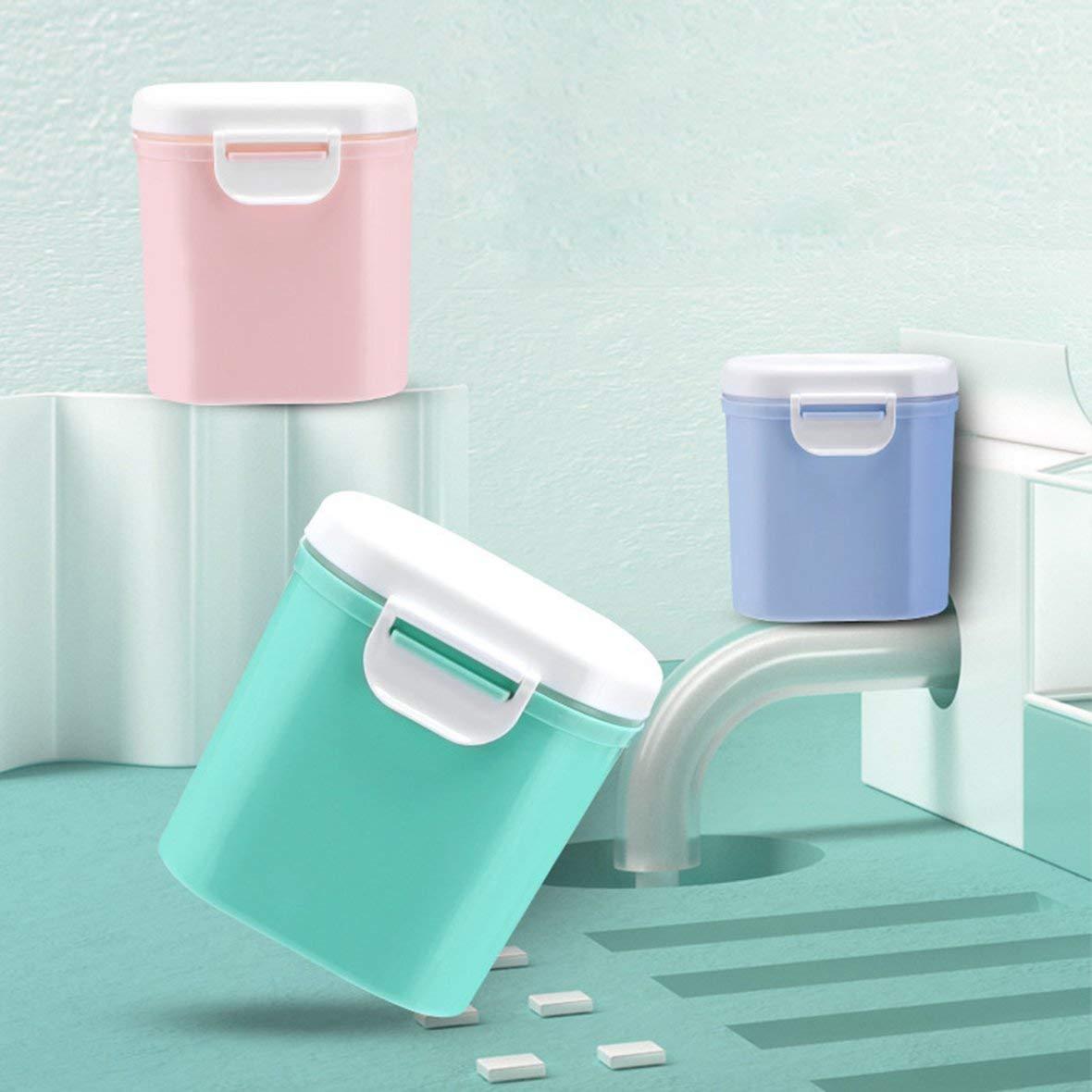 Kleinkind-Milchpulver versiegelt Aufbewahrungsbox Tank Organizer Container erhalten Box blau L Tragbare Outdoor-Gro?raum-Baby
