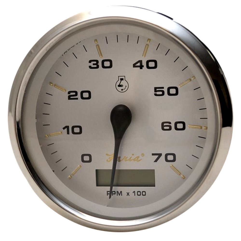 "Amazon.com: Faria Beede Instruments Faria Kronos 4"" Tachometer W/hourmeter  - 7,000 Rpm (gas - Outboard): Automotive"