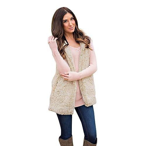 Escudo, abrigo,Internet Chaleco para mujer Winter Warm Hoodie Outwear Casual Abrigo Chaqueta Sherpa ...