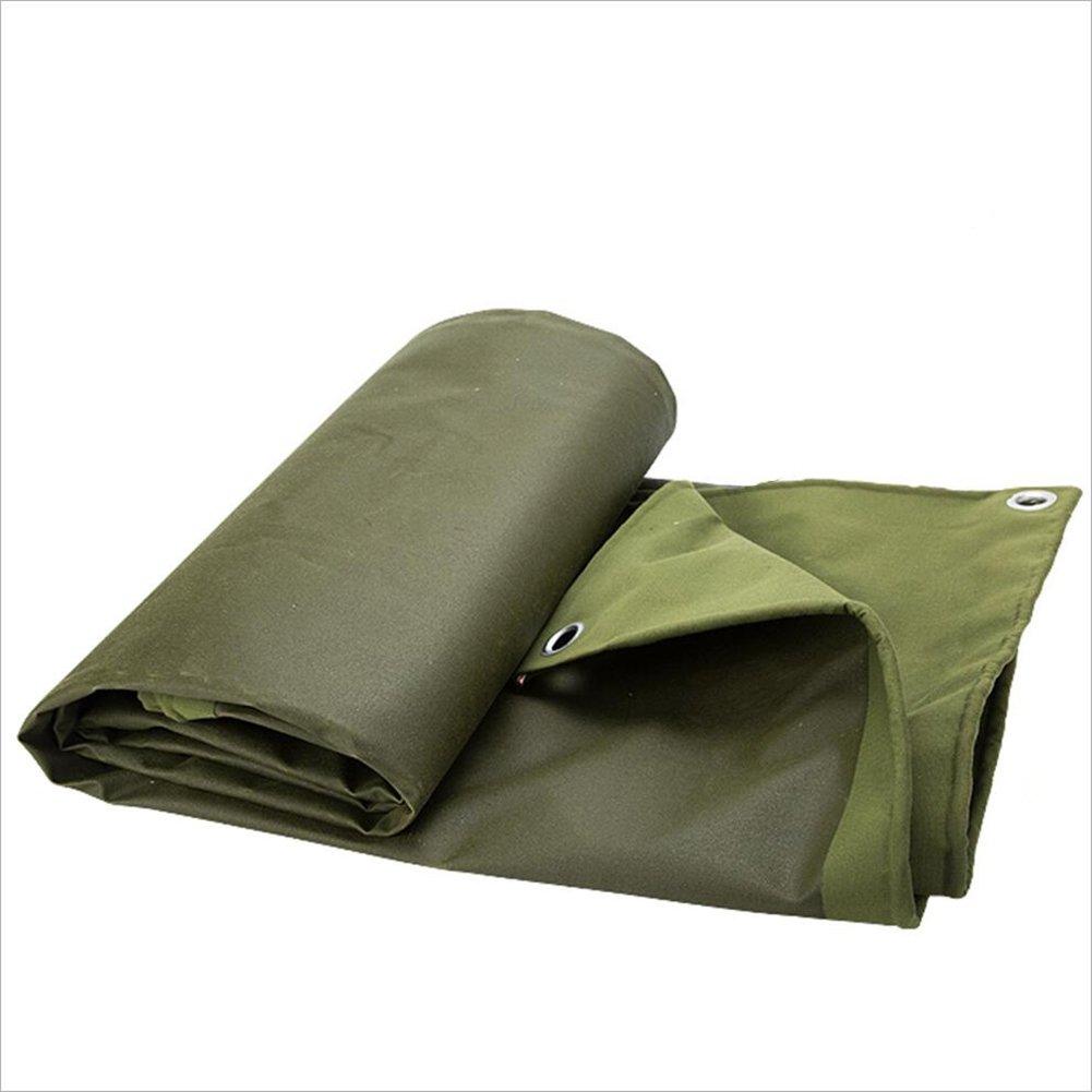 CAOYU Dicke Leinwand Plane, Wasserdichte Poncho Picknick-Matte, pflanzenschutz staubschutz, Hohe temperatur und Anti-Aging,
