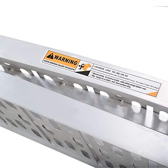 Homgx Rampa de carga de aluminio para motocicleta, 19 cm y rampa ...