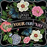 You Can Grow Your Own Way 2021 7 x 7 Inch Monthly Mini Wall Calendar by Hopper Studios, Artworks Painters Paintings Illustration