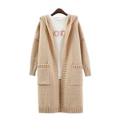 Amazon.com: chaqueta de punto feminino Invierno Manga larga ...
