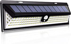 Solar Lights Outdoor , NEWLITE Solar Powered Motion Sensor Lights with 118 LED, Waterproof IP 65 Wireless Security Patio Wall Light with 270°Beam Angle for Garden, Front Door, Yard