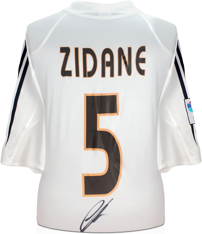 Zinedine Zidane Real Madrid 2004-05 camiseta de fútbol firmada ...
