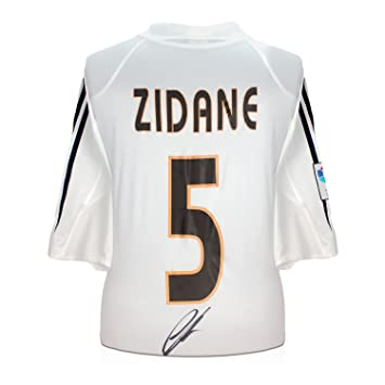 Zinedine Zidane Real Madrid 2004-05 camiseta de fútbol firmada: Amazon.es: Deportes y aire libre