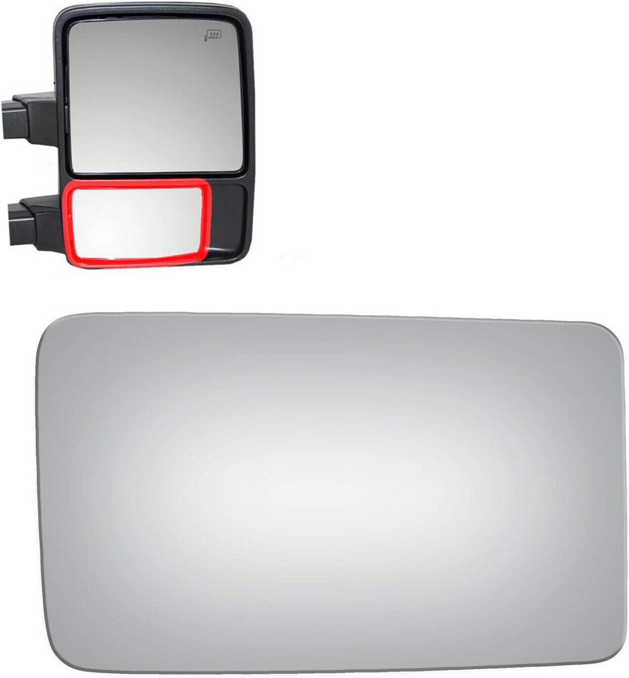 Ford E-150 E-250 E-350 F-250 F-350 F-450 Left driver side mirror glass lens 2729