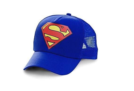 Logoshirt Gorra Superman Logotipo - DC Comics - Visera Superman Logo - Original de la Marca Azul - Diseño Original con Licencia: Amazon.es: Ropa y ...