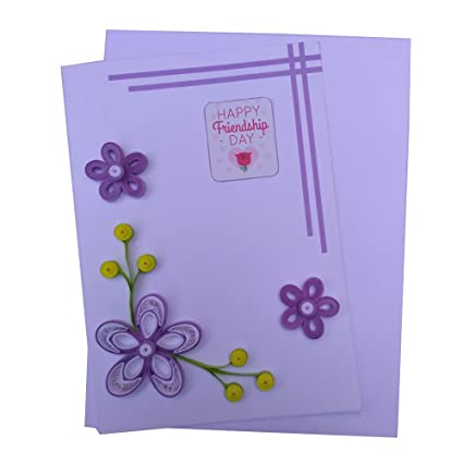 Varsha Creations Handmade Quilled Friendship Day Greeting Card