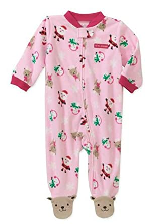 9f63e9956 Amazon.com  Carter s Girl s My First Christmas Fleece Sleeper (0-3 ...