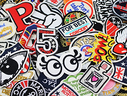 24pcs random assorted Sew-on Embroidered patch Motif Applique (Iron On Embroidered Patches)